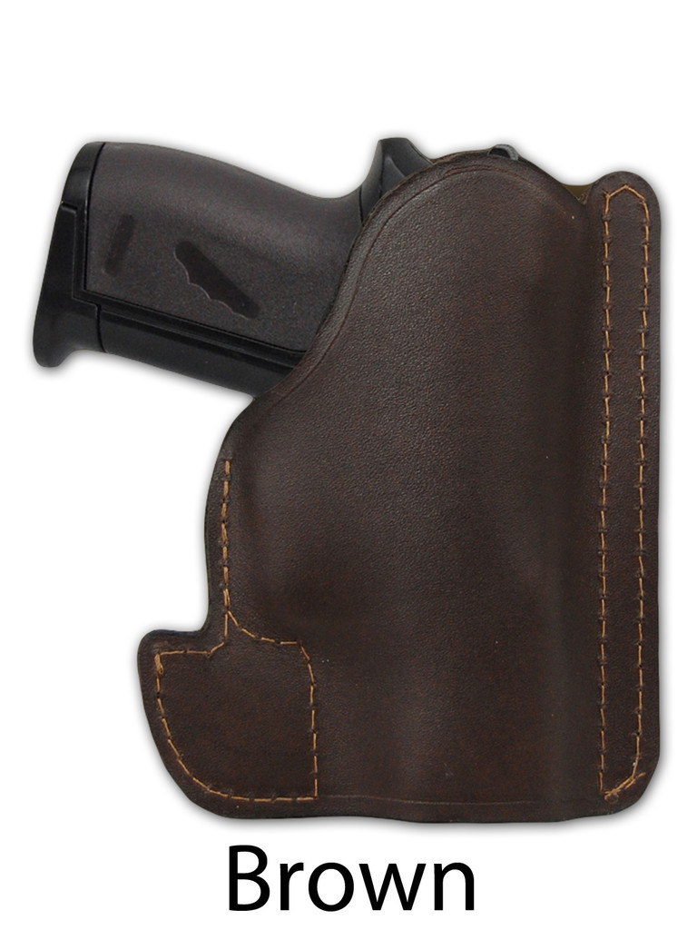 brown leather pocket holster