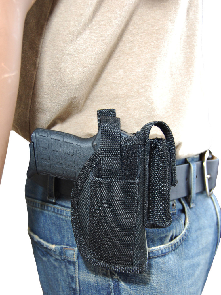 OWB holster with magazine pouch