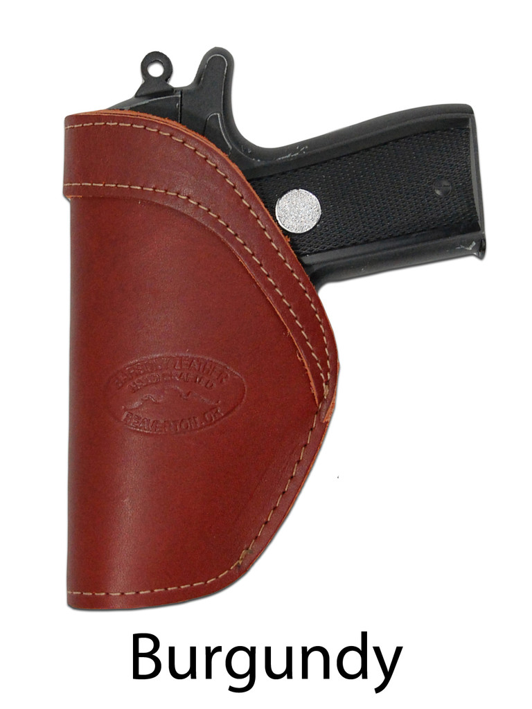 burgundy leather IWB holster