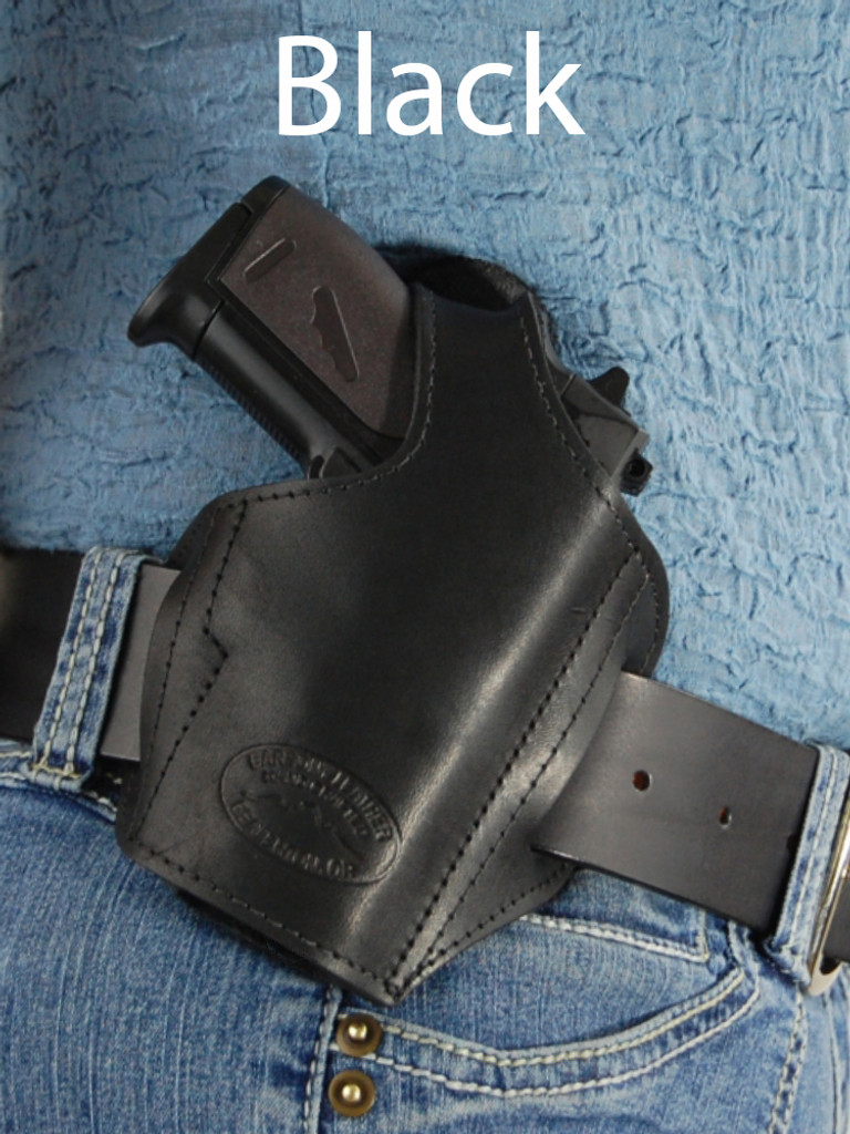black leather pancake holster