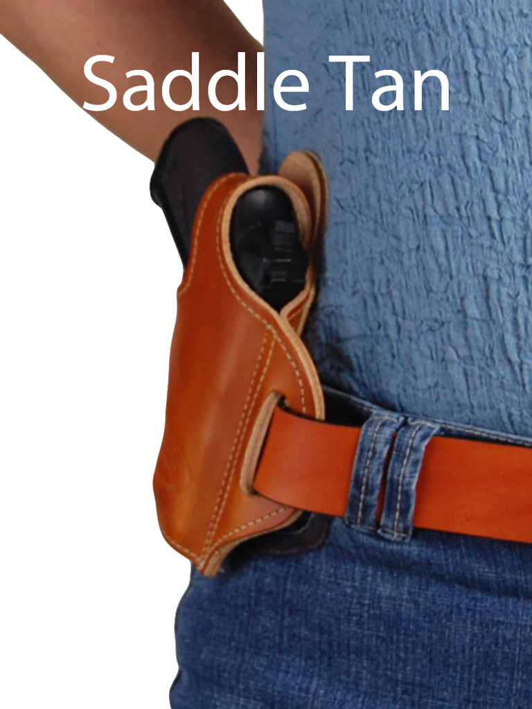saddle tan leather pancake holster