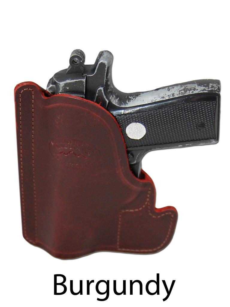 burgundy leather pocket holster