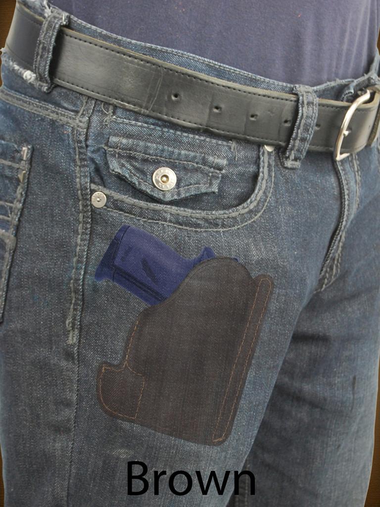 brown leather pocket holster