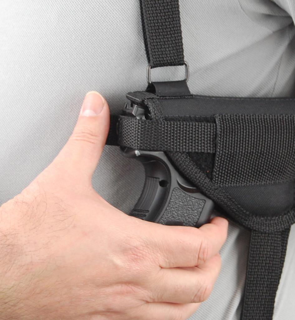 adjustable thumb-break retention