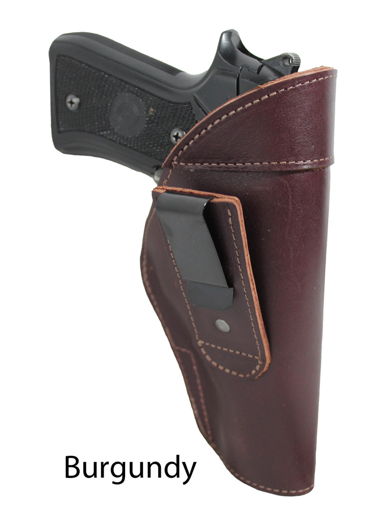 burgundy leather tuckable holster
