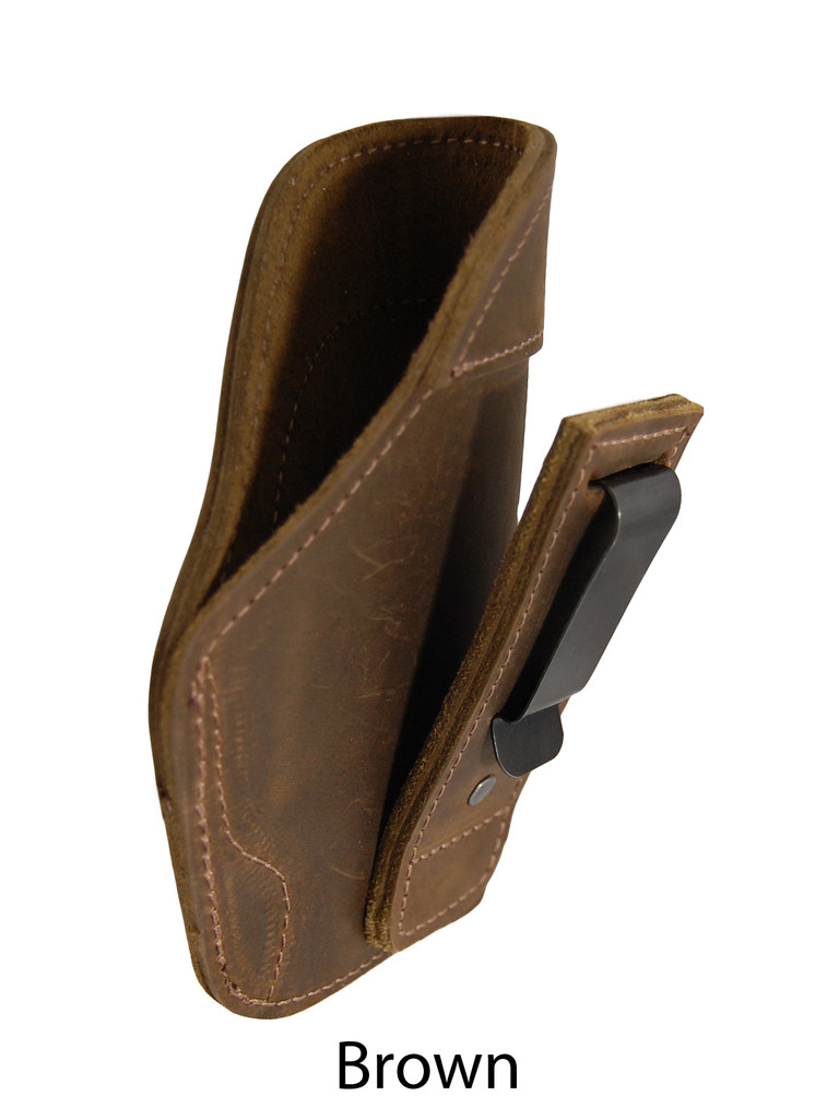 brown leather tuckable holster