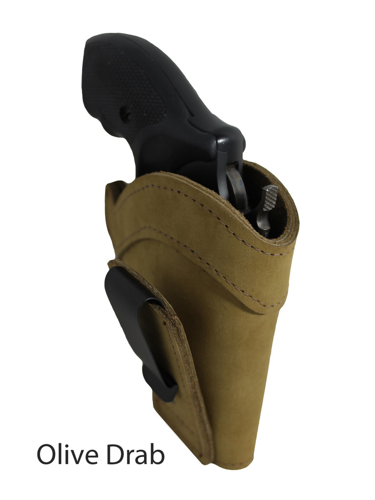 olive drab leather tuckable holster