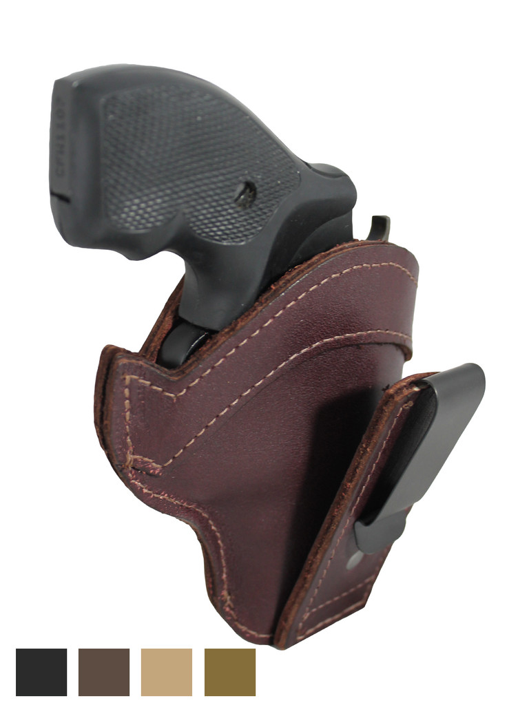 "Leather Tuckable IWB Holster for Snub Nose 2"" 22 38 357 41 44 Revolvers"