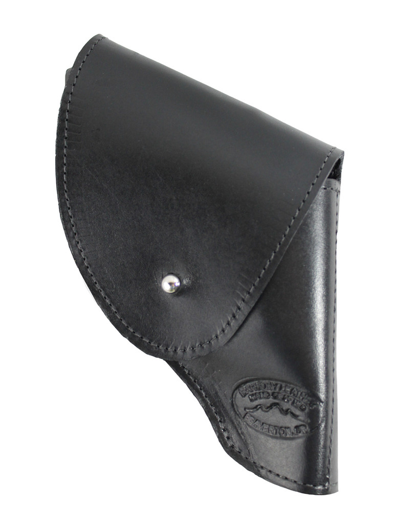 """Black Leather Flap Holster for Snub Nose 2"""" 22 38 357 41 44 Revolvers"""