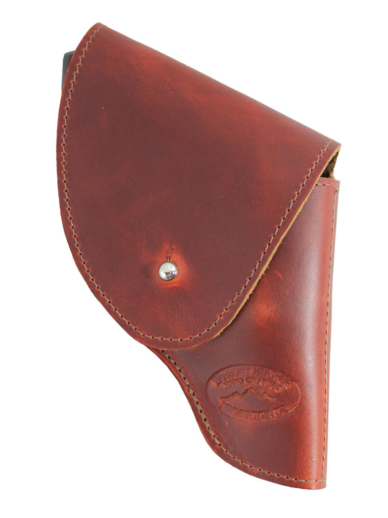 """Burgundy Leather Flap Holster for Snub Nose 2"""" 22 38 357 41 44 Revolvers"""