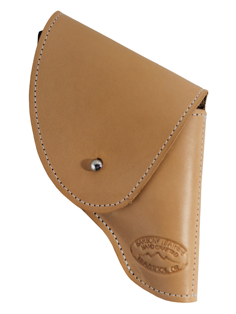 "Natural Tan Leather Flap Holster for Snub Nose 2"" 22 38 357 41 44 Revolvers"