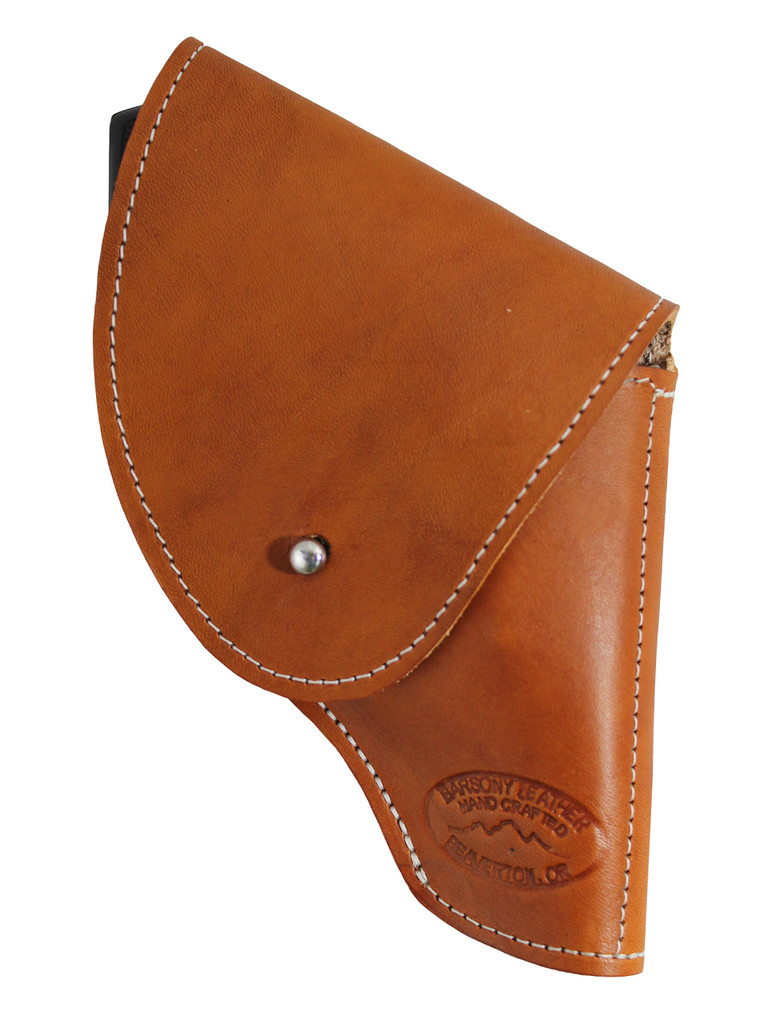 """Saddle Tan Leather Flap Holster for Snub Nose 2"""" 22 38 357 41 44 Revolvers"""
