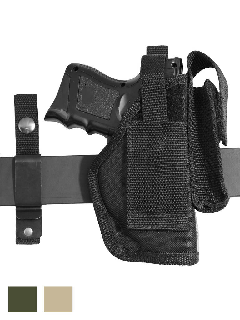 360Carry 8 Option OWB Cross Draw Holster w/ Mag Pouch for Compact 9mm 40 45 Pistols
