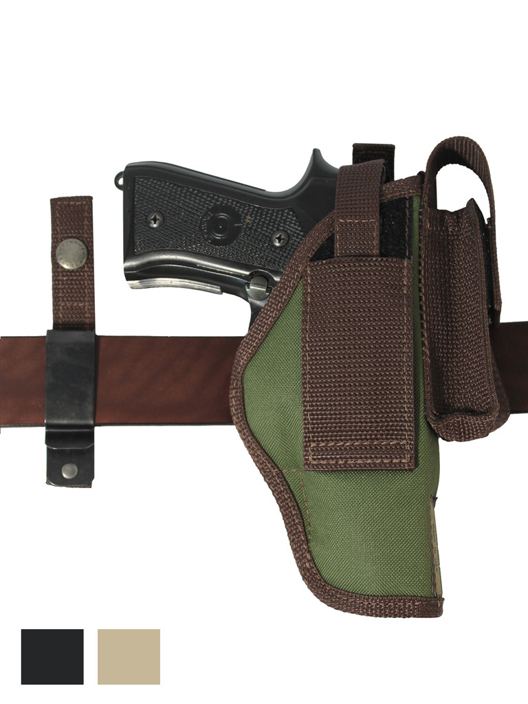 New 360Carry 8 Option OWB Cross Draw Holster w/ Mag Pouch for Full Size 9mm 40 45 Pistols (#360C-32-2NY)