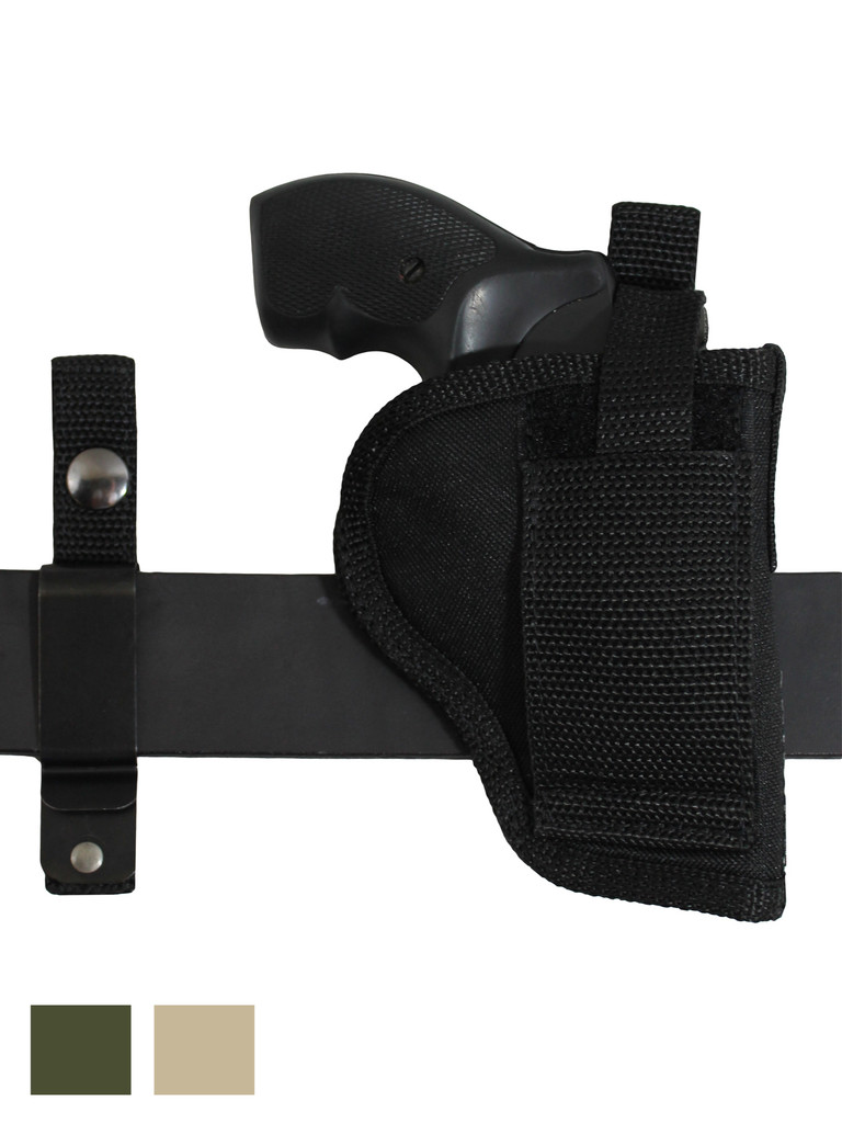 "360Carry 12 Option OWB IWB Cross Draw Holster for 2"" Revolvers"