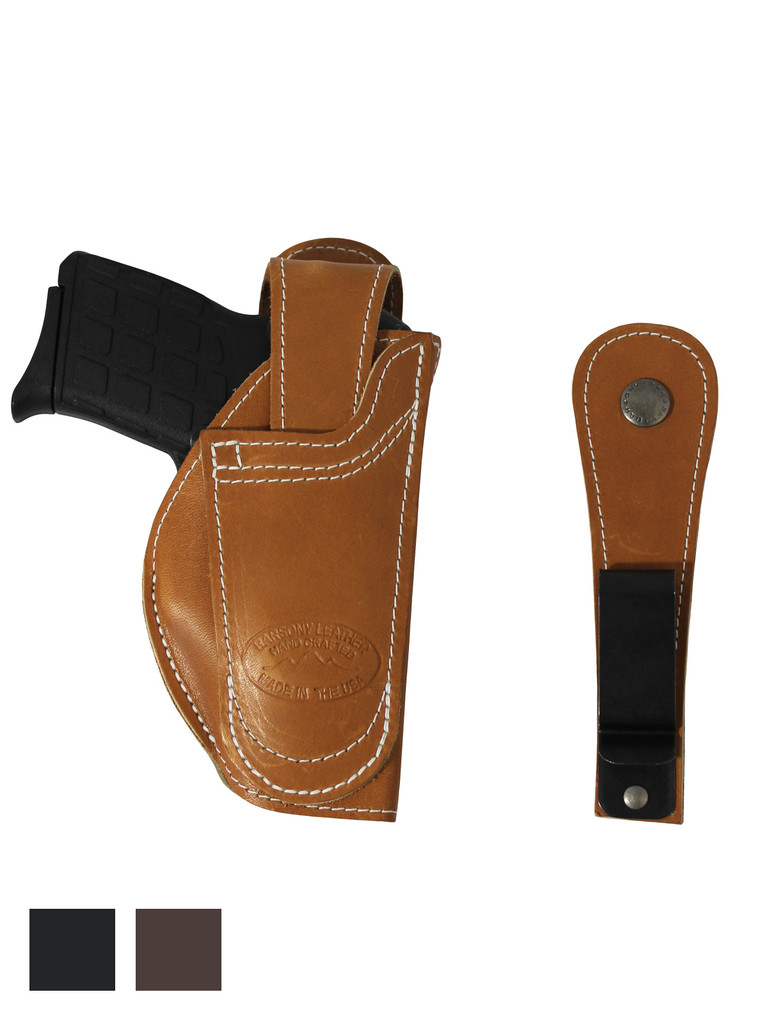 Leather 360Carry 12 Option OWB IWB Cross Draw Holster for 380 Ultra Compact 9mm 40 45 Pistols