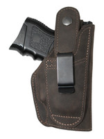 Left hand belt clip holster