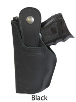black leather 360Carry ambidextrous holster