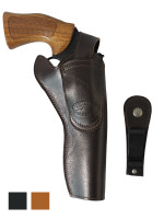 """Leather 360Carry 8 Option OWB Cross Draw Holster for 6"""" Revolvers"""
