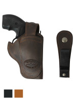 """Leather 360Carry 12 Option OWB IWB Cross Draw Holster for 2"""" Revolvers"""