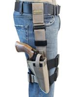 """Desert Sand Tactical Leg Holster for 6"""" .38 .357 .41 .44 Revolvers"""