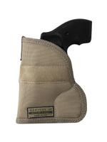"""Holster store: Desert Sand Ambidextrous Pocket Holster for 2"""", Snub Nose .38 .357 Revolvers"""
