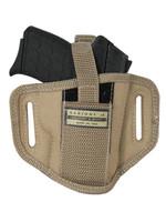 Desert Sand 6 Position Ambidextrous Pancake Holster for 380, Ultra Compact 9mm 40 45 Pistols