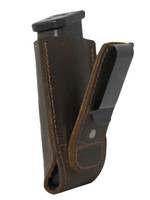 Brown Leather Tuckable Single Magazine Pouch