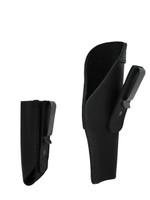 black leather concealment holster