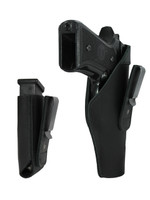 Black Leather Tuckable IWB Holster + Magazine Pouch for Full Size 9mm .40 .45 Pistols