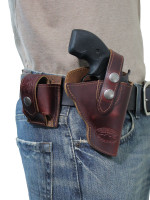 OWB holster with speed-loader pouch