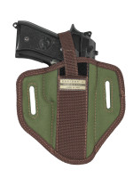 Woodland Green 6 Position Ambidextrous Pancake Holster for Full Size 9mm 40 45 Pistols