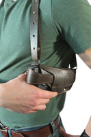 leather thumb-break ambidextrous holster