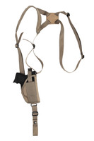 Desert Sand Vertical Shoulder Holster for Compact Sub-Compact 9mm 40 45 Pistols