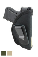 New Tuckable IWB Holster for Compact Sub-Compact 9mm .40 .45 Pistols with LASER - available in black, woodland green and desert sand