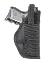 front of holster