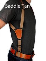 saddle tan leather shoulder holster