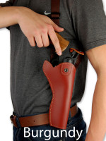 burgundy leather shoulder holster