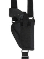 vertical holster for shoulder pad