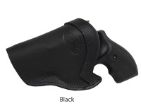 black leather IWB holster