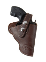 """Holster store: Brown Leather OWB Holster for Snub Nose 2"""" Revolvers"""