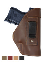 Leather Inside the Waistband Holster for Compact Sub-Compact 9mm 40 45 Pistols