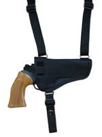 horizontal holster for shoulder pad