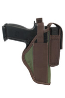 woodland green OWB holster with magazine pouch