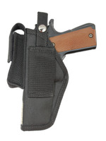 Belt holster with magazine pouch