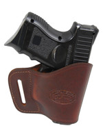 Burgundy Leather Yaqui Holster for Compact Sub-Compact 9mm 40 45 Pistols
