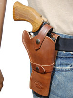 brown leather revolver holster