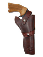 """Burgundy Leather Western Style Holster for 6"""" Revolvers"""