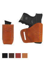 Leather Yaqui Holster + Single Magazine Pouch for Compact Sub-Compact 9mm 40 45 Pistols