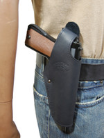 black leather belt holster